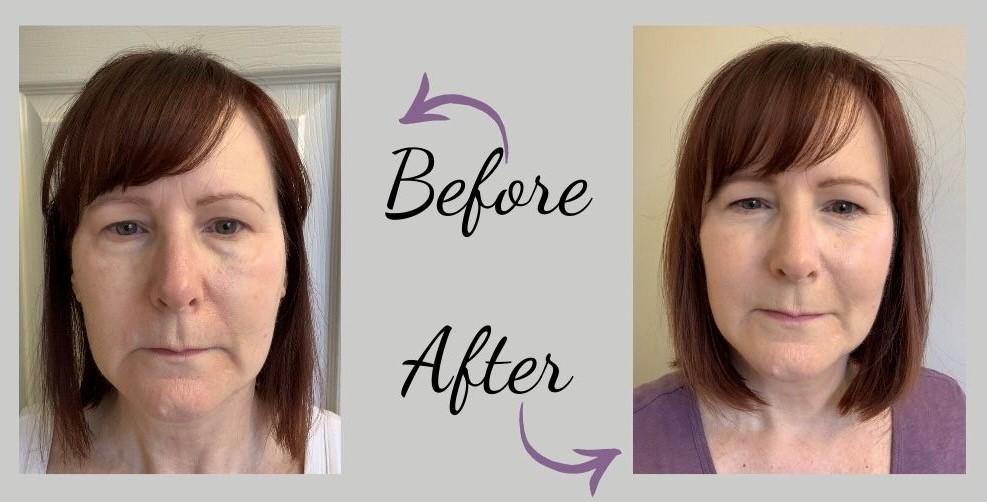 makeup blog before & after